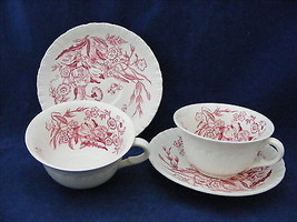 2 Vintage Wedgwood Ranucaculus Cup & Saucer Sets - $15.00