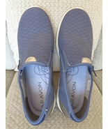 Aravon ABJ02BL Wembly Side Zip Womens Blue Boat Shoes 8.5 2E Wide  - $24.99