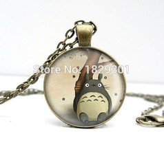 2017 New My Neighbour Totoro Necklaces Pendant Classic Animal Jewelry Gl... - $7.94