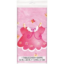 Pink Clothesline Baby Shower Plastic Table Cover 1 Ct Birthday Party Sup... - $3.91