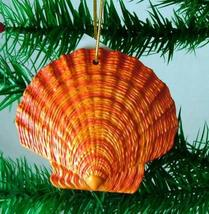 Tropical Beach Seashell Christmas Ornament Reddish Orange ORNShell07 - $15.76