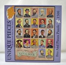 Famous Figures of the Civil War Bits & Pieces Puzzle - 1500 Unique Pieces New - $23.70