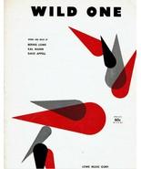 Sheet Music Wild One Bernie Lowe Kal Mann Dave Appell 1960 - $14.36