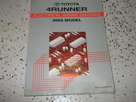 2003 Toyota 4RUNNER Eléctrico Cableado Diagrama Manual Taller Oem Ewd Wtm - $9.89