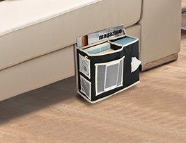 KOVOT Bedside Or Sofa Hanging Storage 6 Pocket Organizer - Black With Gr... - $9.99