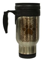 Dog Dad with Paw Print 12 Oz Stainless Steel Hot/Cold Travel Mug - $16.78