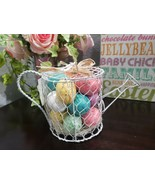 Martha Stewart Spring Easter Watering Can Eggs Basket Tabletop Home Decor - $26.99