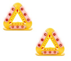 2 Pack Flashing Emergency Triangle LED Lights Warning Triangle w/ Magnet... - $16.44
