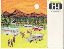 Winnebago Sales Brochure, 1969 campground 24x24 Inch   Ready to ship now - $18.99
