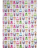 Nursery Baby Girl Dress Bunny Bib Cotton Fabric Bundle of Pink Yard - $25.23