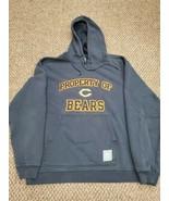 Chicago Bears Blue Gridiron Reebok Hoodie Sweatshirt Medium Excellent Condition  - $19.79