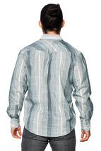 LW Men's Classic Checkered Striped Western Rodeo Pearl Snap Button Up Shirt image 10