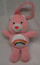 "Care Bears PINK CHEER BEAR 4"" KEYCHAIN CLIP Plush STUFFED ANIMAL Toy - $15.35"