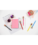 LINE Friends CHOCO Gel Ball Point Pen 5 Types Cute Character Desk Acc Gi... - $9.99