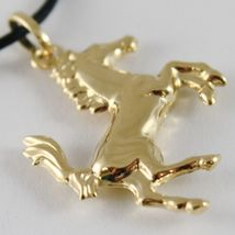 Yellow Gold Pendant Or White 750 18K, Horse Convex, Pony image 5
