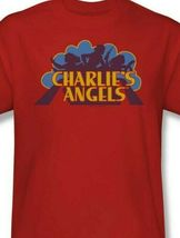 Charlie's Angels T-shirt logo retro 70's 80's TV series red graphic tee CA113 image 3