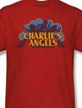 Charlies Angels T-shirt logo retro 70s 80s TV series red graphic tee CA113 image 3