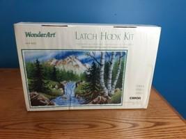 "Caron Sierra Latch Hook Kit Mountain Stream Trees Wonder Art 4425 30""x50"" Rare - $51.48"