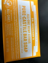 Dr. Bronner's Pure-Castile Bar Soap Citrus Hemp 5oz. - $156,03 MXN