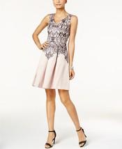 Taylor Velvet-Inset Printed Fit & Flare Dress BLUSH BLACK MSRP$128.00 - $20.05+