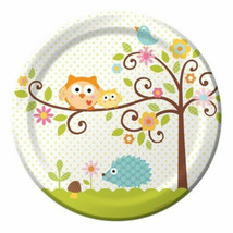 "Happi Tree Baby Shower Sweet Baby Owl Paper 8 Ct Plates Lunch 9"" - $3.79+"