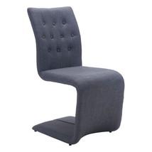 Modern Hyper Upholstered Dining Chair Set Of 2 Gray Furniture for Dinnin... - $524.99