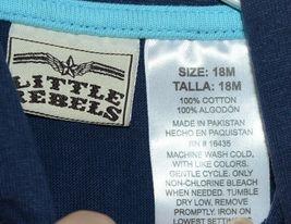 Little Rebels SK8 Club Polo Shirt Short Set Blue Plaid Size 12 Months image 3