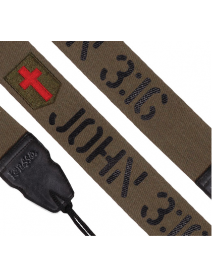 JOHN 3:16 - CHRISTIAN GUITAR STRAP - BY KERUSSO