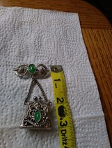 Unique Silver Jade Pin With Opening Purse To Adding Your Favorite Fragrance Jewe image 2
