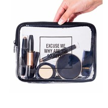 Women travel Waterproof PVC Transparent Cosmetic Bags Clear Wash Organiz... - $7.57+