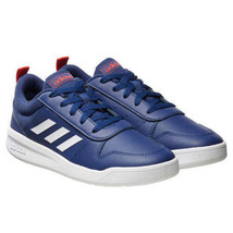 Adidas Kinder Marineblau/Weiß/Rot Tensaur K Jugend Court Tennisschuhe Größe 1K