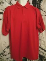 Mens RALPH LAUREN Red POLO SHIRT sz L - $29.69