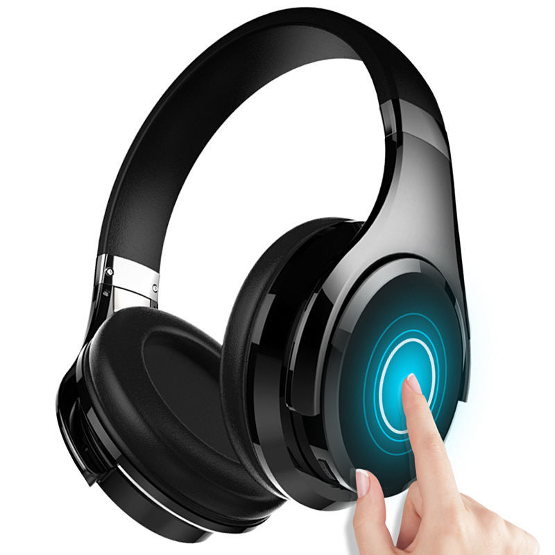 Wireless Bluetooth V4.0 Headset HiFi Touch Control Over Hear Headphones W/ Mic