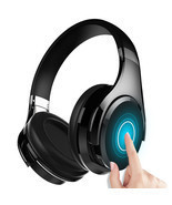 Wireless Bluetooth V4.0 Headset HiFi Touch Control Over Hear Headphones ... - £43.56 GBP