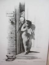 "Vintage 1905 ""The Tattletale"" Print By W. M. BALFOUR-KER - $10.36"