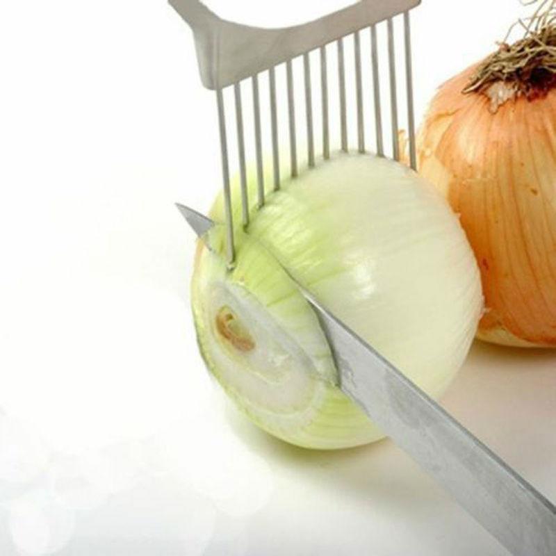 Onion Slicer Stainless Steel Vegetable Tomato Holder Kitchen Cutter Equipment