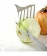 Onion Slicer Stainless Steel Vegetable Tomato Holder Kitchen Cutter Equi... - $6.91