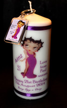 White Wax Cellini Candles Personalised Betty Boop Candle gift and key ri... - $21.77