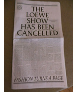 New York Times Special Loewe Spring Fashion Show 40 pages 2021 VG+ - $30.00
