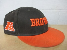 2012 New Era Orange Brown Youth 9 Fifty 50 Snap back Browns Football Cap Hat Kid - $26.14