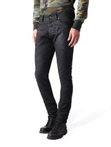 NEW DIESEL MEN'S DESIGNER SLIM CARROT LEG TEPPHAR BLACK JEANS 0669G_STRETCH image 2