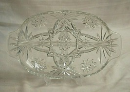 "Prescut Clear EAPC Anchor Hocking 10"" 2 Part Relish Dish Star & Fan Desi... - $19.79"