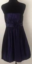 Sangria SZ 8P Deep Purple Cocktail Dress Above Knee Empire Waist Bow Prom Party - $9.85