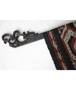 6 Hand carved Elegant Quilt or Textile Art Display Hangers Rod Rack Fini... - $522.49