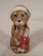 VINTAGE CERAMIC PORCELAIN JASCO CHRISTMAS DOG BELL - $25.73