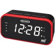 JENSEN JEP-150 AM/FM Weather Band Clock Radio with Weather Alert - $37.54