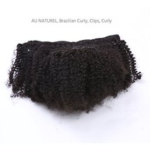 Anrosa Afro Kinky Clip ins Human Hair 1B Natural Black Afro Kinkys Curly Clip in image 7