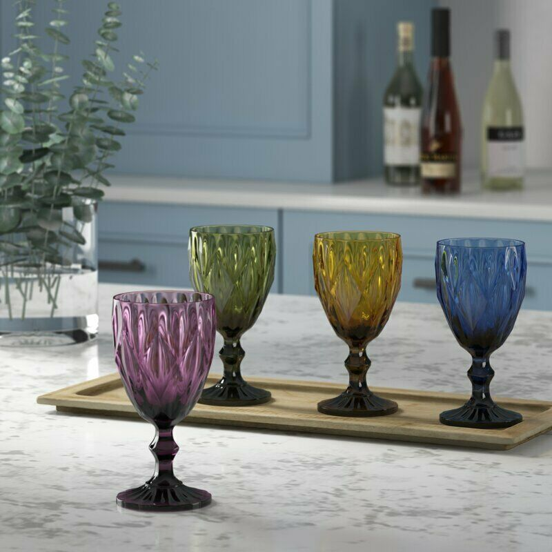 Primary image for Kaleb 4 Piece 11 oz. Glass Goblet Set