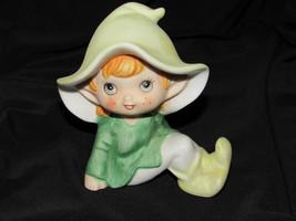 Vintage Homco Bisque Pixie Elf Fairy Figurine - $12.86