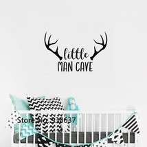 Woodland Nursery Wall Decal Little Man Cave Baby Boy Wall Stickers Quote... - $24.18+